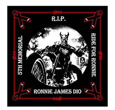 "RJD SUAS ""Ride For Ronnie"" 5th Year Commemorative Bandana - Front"